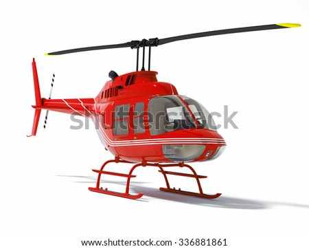 helicopter isolated on a white background  - stock photo