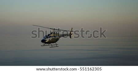helicopter on the sea