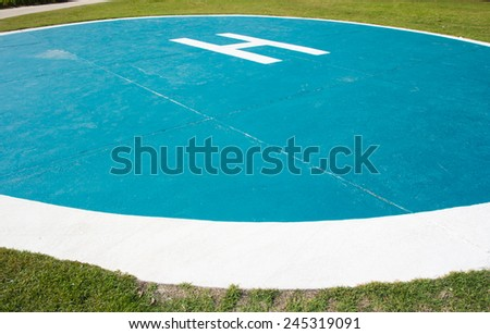 Helicopter parking spot - stock photo