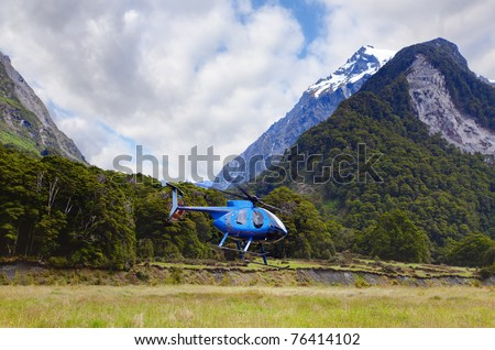 Helicopter tour - stock photo