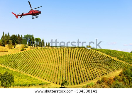 Helicopter tour in Tuscany, Italy