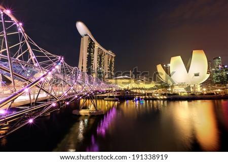 Helix Bridge singapore travel landmark - stock photo