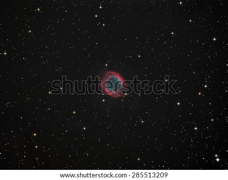 Helix Nabula(NGC7293) Eyes in Outer Space - stock photo