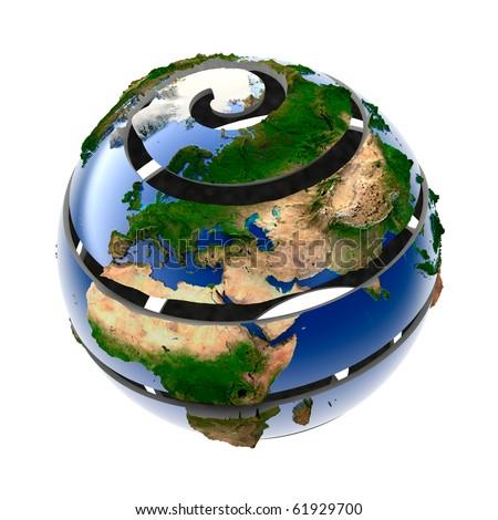 Helix Planet Earth - stock photo