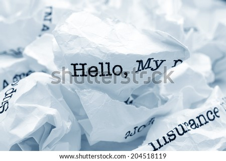 Hello concept - stock photo