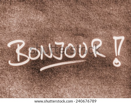hello in french language - stock photo