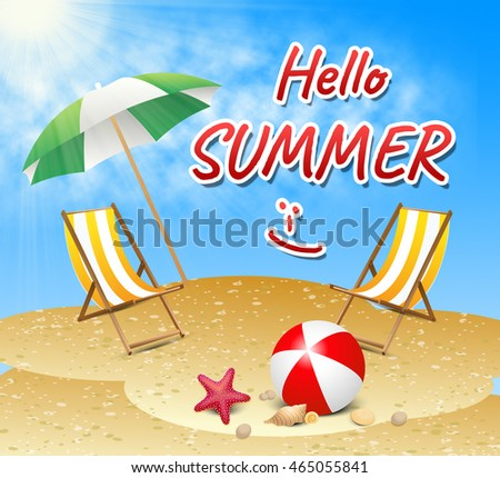 Hello Summer Indicating How Are You And Good Day