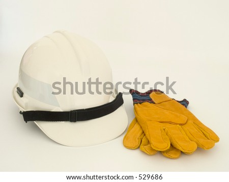 Helmet and gloves - stock photo