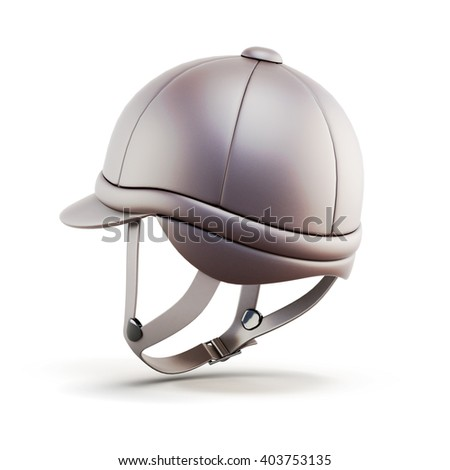 Helmet for riding isolated on white background. 3d render image. - stock photo