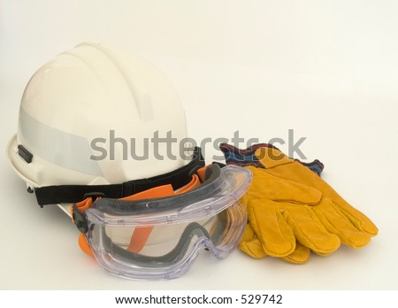 Helmet, goggles, gloves - stock photo