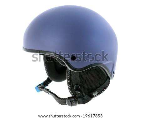 Helmet isolated on white - stock photo