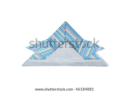 Helmet of paper - stock photo