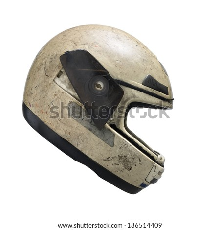 Helmet side view. Clipping path - stock photo
