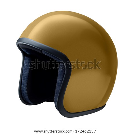 helmet, vintage or classic style isolated on white background - stock photo