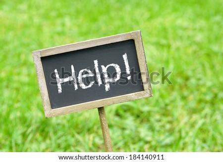Help ! - stock photo