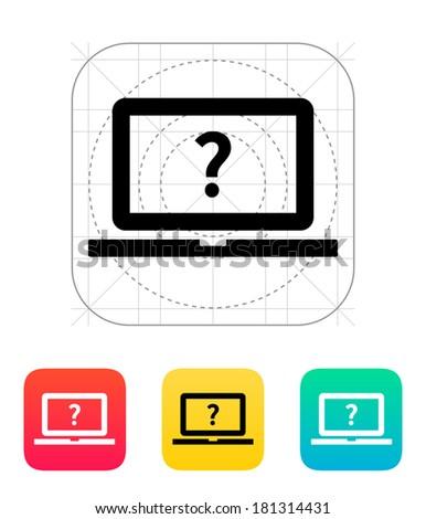 Help and FAQ laptop icon. - stock photo