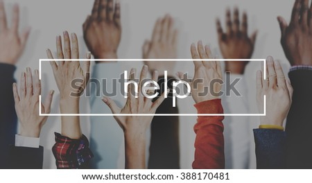Help Assistance Aid Charity Concept - stock photo