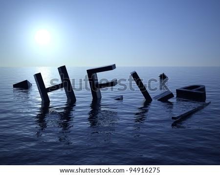 Help at sea - stock photo
