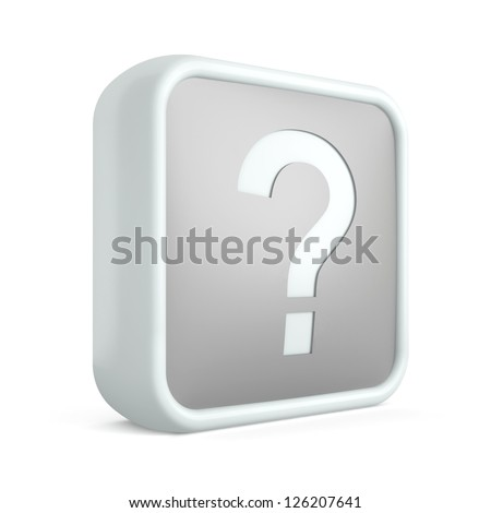 Help 3d icon on a white background - stock photo