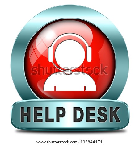 help desk icon or button or online support call center customer service - stock photo