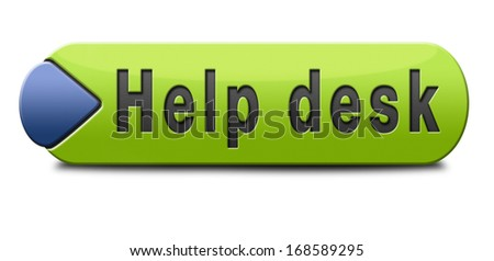 help desk or online support call center button or icon customer service - stock photo