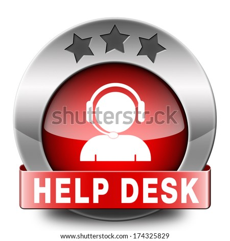 help desk red icon or button or online support call center customer service - stock photo