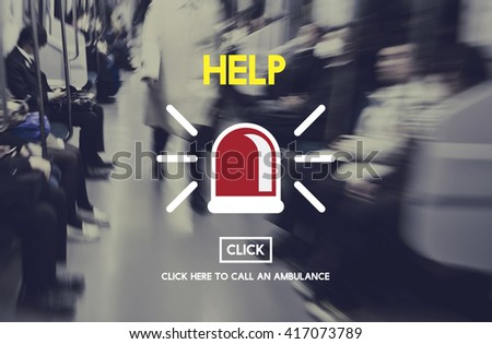 Help Emergency Accident Aid Concept - stock photo