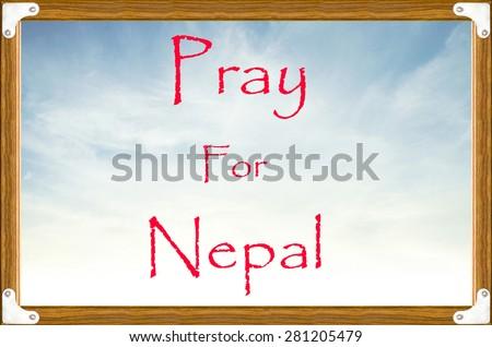 Help for NEPAL Earthquake  on board - stock photo