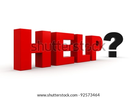 Help in solving the problem - stock photo