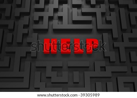 Help - Lost in a 3d maze - stock photo