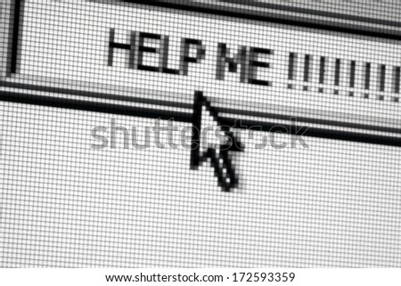 Help on the web - stock photo