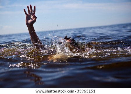 Help! Seeking rescue. - stock photo