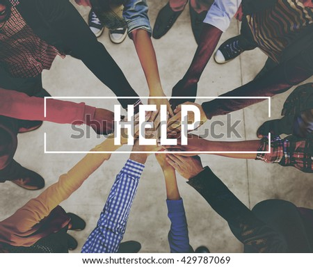 Help Service Support Donate Assistance Concept - stock photo