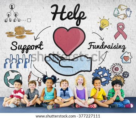 Help Support Fundraising Donate Charity Concept - stock photo