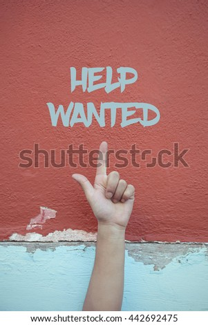 Help Wanted. - stock photo
