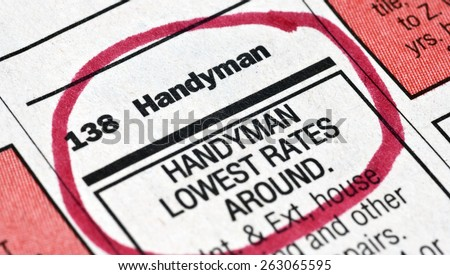 Help Wanted Ad/ Help Wanted Ad For Handyman - stock photo