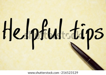 helpful tips text write on paper  - stock photo
