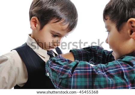 Helping each other - stock photo