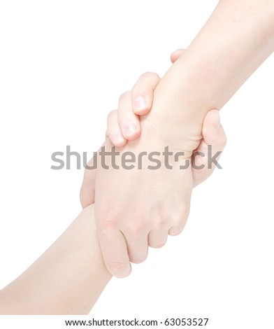 Helping eachother - stock photo