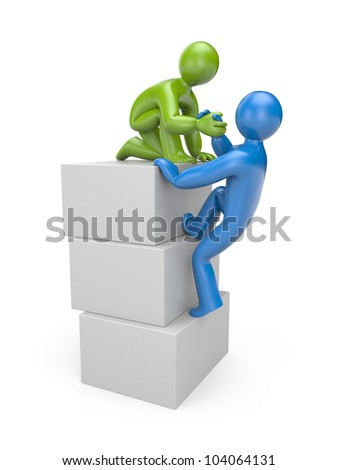 Helping hand. Image contain clipping path - stock photo