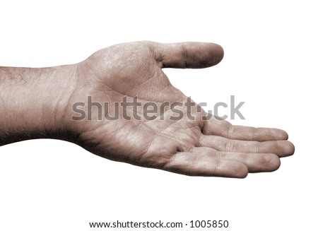 Helping Hand - Isolated - stock photo