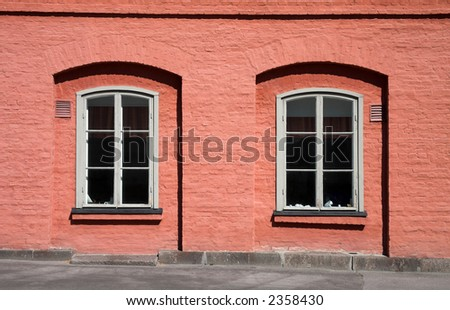 Helsinki Finland Architecture and Windows - stock photo