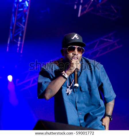 HELSINKI, FINLAND - AUGUST 13: American rapper, song-writer, record producer and actor Big Boi live on stage at Flow 2010 Festival on August 13, 2010 in Helsinki, Finland - stock photo