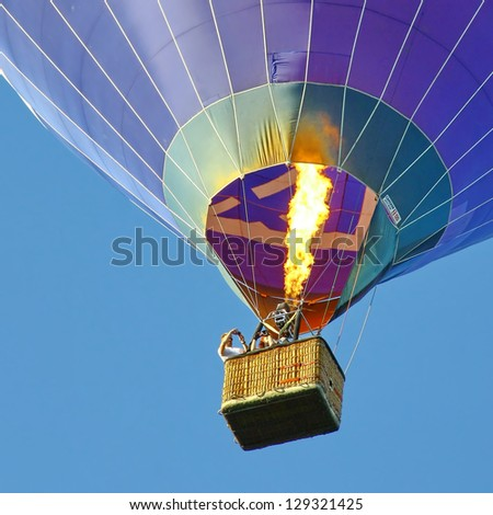 HELSINKI, FINLAND - JULY 27: The traditional launch of the hot air balloon in a city park next to the promenade of the Gulf of Finland on July 27, 2012 in Helsinki.