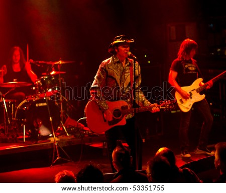 HELSINKI,FINLAND-MAY 11:American Rock/Country rock band Jason & the Scorchers from Nashville,Tennessee, USA live on stage at Tavastia,Club-#1 rock venue in Finland-on May 11,2010 in Helsinki,Finland - stock photo