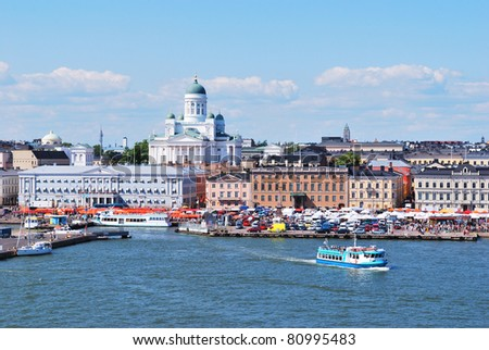 Helsinki, Finland.  View from the South Harbor