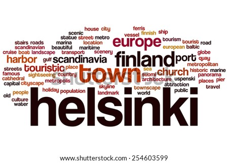 Helsinki word cloud concept - stock photo