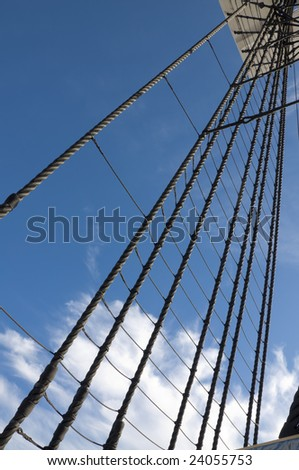 Hemp rigging on a Tall Ship