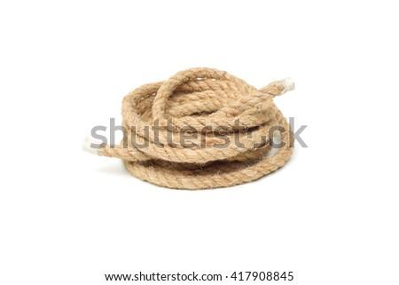 hemp rope - stock photo