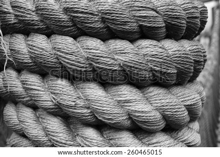 Hemp rope. Textured background.                              - stock photo